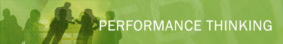 Performance Thinking Approach to Performance Improvement Banner Image